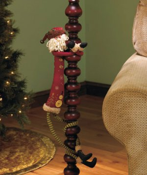 "New Santa 39"" Long-Legged Holiday Friend"