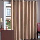 "New Espresso Brown Color 112"" Wide Blackout Patio Curtain"