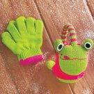 New Frog Design Kids' Knit Critter Earmuff and Glove Set