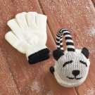 New Panda Design Kids' Knit Critter Earmuff and Glove Set
