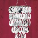 New Chic Posh Ready To Hang Metal and vinyl Chandelier