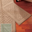 "New Nonskid Sage Green 18"" x 30"" Accent Rug"