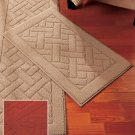 """New Nonskid Brick Red 18"""" x 30"""" Accent Rug"""