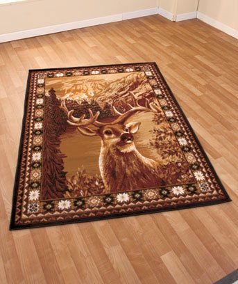 "New Wildlife Hunting Deer 59""' x 79"" Decorative Area Rug"