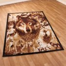 "New Wildlife Hunting Wolves 59""' x 79"" Decorative Area Rug"