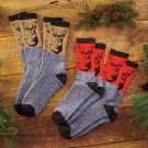 New 4-Pk Outdoorsman Deer Buck Print Sock Set