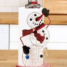 New Metal Christmas Holiday Snoman Kitchen Paper Towel Holder
