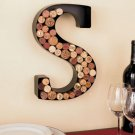 New Metal Monogram Wine Cork Holder Letter S