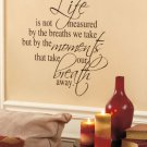 "New Sentiment Vinyl Wall Quote "" Life "" Message Quote"