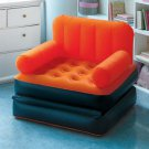 New Orange Multi-Max Inflatable Air Chair / Bed Great for Camping