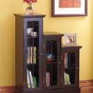 New Black Wooden Triple Step Storage Cabinet with Shelves