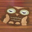 New Brown Owl-Shaped Bedroom / Bathroom Floor Rug