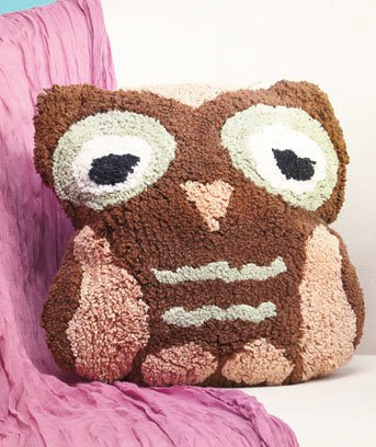 New Brown Owl-Shaped Bed Pillow