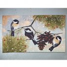 New Colorful Christmas Birds Holiday Doormat