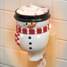 New Christmas Holiday Snowman Tart Warmer Night Light