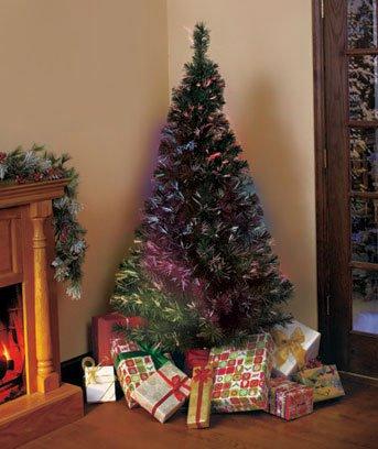 New  6-Ft. Color Changing Fiber-Optic Christmas Holiday Tree