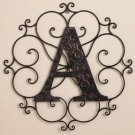 New Metal Monogram Wall Art Hanging Letter A