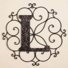 New Metal Monogram Wall Art Hanging Letter L