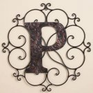 New Metal Monogram Wall Art Hanging Letter P