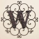 New Metal Monogram Wall Art Hanging Letter W