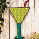New Beach-Themed Metal Wall Hanging Tropical Drink