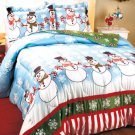 New King Size Snowman Party Comforter Set With 2 Shams