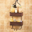 New Metal Bronze Finish Bathroom Shower Caddy Soap Shampoo Storage Holder