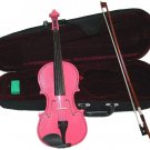 Crystalcello MV300PK 4/4 Size Pink Violin with Case