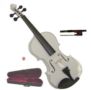 Crystalcello MA100WT 12 inch WHITE Viola with Case