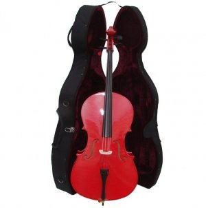 Rugeri MC150RD 1/4 Size Red Cello with Case