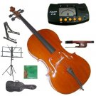 Rugeri 1/4 Size Cello+Bag+Bow+2 Sets String,Rosin,Cello Stand,Music Stand,Metro Tuner