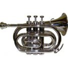 MERANO WD481 B Flat Silver Pocket Trumpet with Case