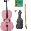 Merano 4/4 Size Pink Cello with Bag and Bow + 2 Sets of Strings + Rosin