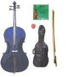 Merano 1/10 Size Purple Cello with Bag and Bow + 2 Sets of Strings + Rosin