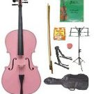 Merano 1/16 Size Pink Cello w/Bag,Bow+Rosin+2 Sets Strings+Tuner+Cello Stand+Music Stand