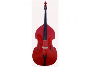 Merano 1/2 Size Red Upright Double Bass with Bag,Bow,Bridge+Free Rosin