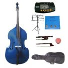 Merano 4/4 Size Blue Upright Double Bass w/Bag,Bow,Bridge+2 Sets Strings+Rosin+Music Stand+Tuner