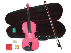 Merano 13 inch Pink Viola with Case, Bow+2 Sets Strings+2 Bridges+Pitch Pipe+Rosin