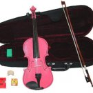 Merano 12 inch Pink Viola with Case, Bow+2 Sets Strings+2 Bridges+Pitch Pipe+Rosin