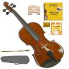Merano MV200 1/10 Size SolidWood Violin,Case,Bow+Rosin+2 Sets Strings+2 Bridges+Tuner