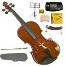 Merano MV200 4/4 Size SolidWood Violin,Case,Bow+Rosin+2 Sets Strings+2 Bridges+Tuner+Shoulder Rest