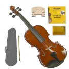 Merano MV200 4/4 Size Solid Wood Violin,Case,Bow+Rosin+2 Sets Strings+2 Bridges