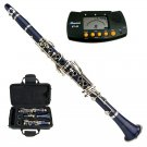 MERANO BLUE ABS CLARINET WITH CASE, METRO TUNER