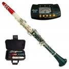 MERANO RED-WHITE-GREEN TRI COLOR ABS CLARINET WITH CASE, METRO TUNER