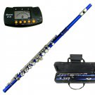 MERANO BLUE LACQUER PLATED FLUTE WITH CASE