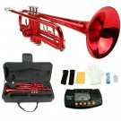 MERANO RED LACQUER PLATED TRUMPET WITH CASE