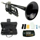 MERANO BLACK LACQUER PLATED TRUMPET WITH CASE