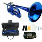 MERANO BLUE LACQUER PLATED TRUMPET WITH CASE