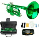 MERANO GREEN LACQUER PLATED TRUMPET WITH CASE