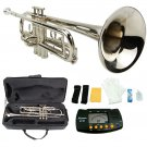 MERANO NICKEL PLATED TRUMPET WITH CASE